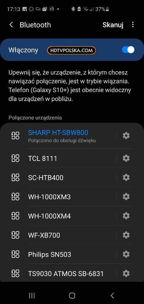 Soundbar Sharp HT-SBW800 Test apka
