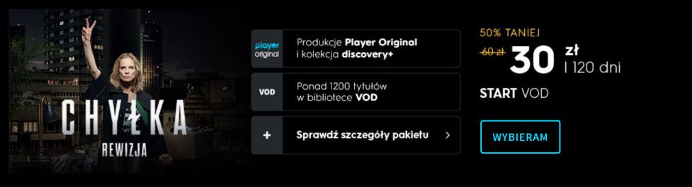 Wielka promocja w Player - pakiet START za pół ceny na 4 miesiące i prawie 30 dodatkowych kanałów za złotówkę! Tłumaczymy jak skorzystać