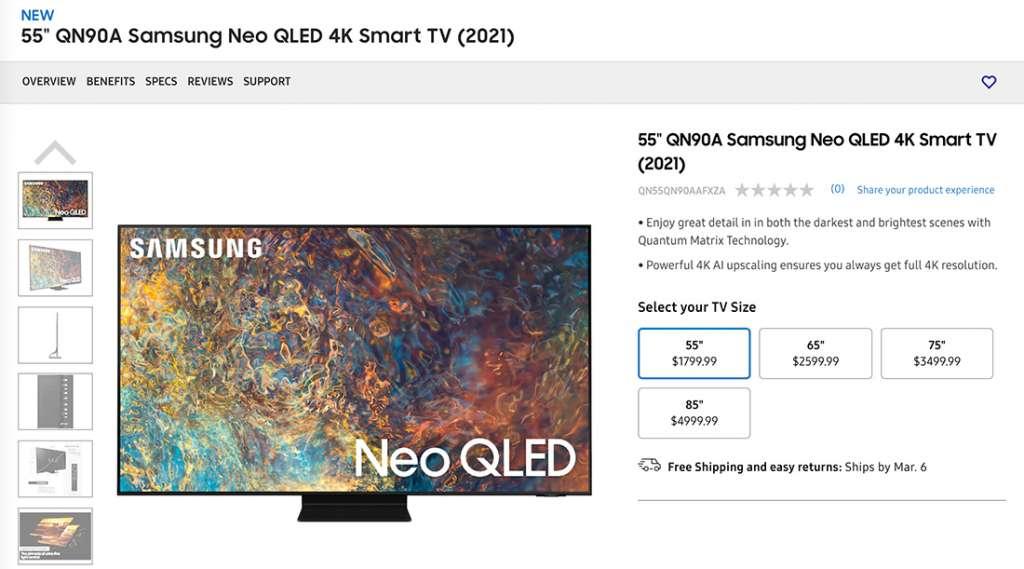 Telewizory Samsung Neo QLED MiniLED już dostępne w przedsprzedaży w USA! Na ile je wyceniono?
