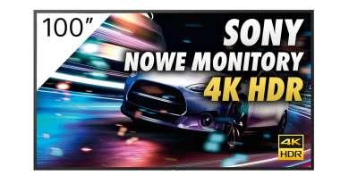 Sony monitor Bravia FW-100BZ40J okładka