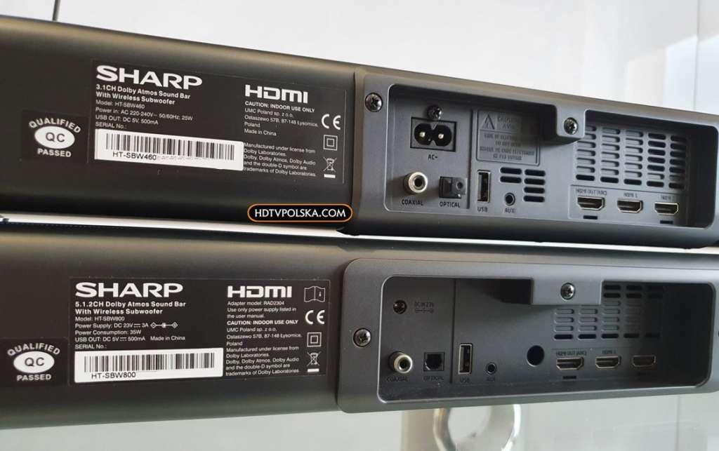 Soundbar Sharp HT-SBW460 kontra Sharp HT-SBW800 3