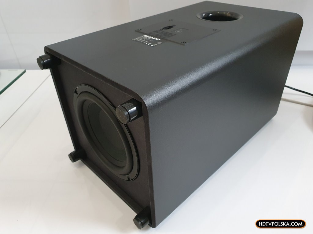 Test Sharp HT-SBW460 Dolby Atmos subwoofer
