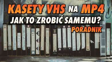 kasety VHS MP4 konwersja okładka