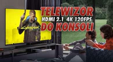 telewizor do konsoli HDMI 2.1 4K 120fps testujemy okładka