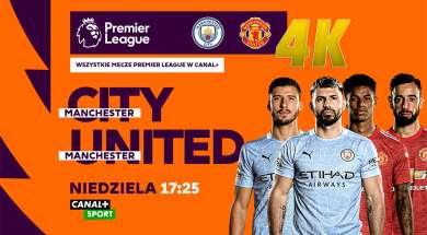 CANAL+ 4K Premiera League Manchester United Manchester City mecz okładka