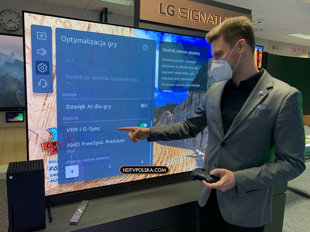 Nowy panel gracza LG OLED 2021