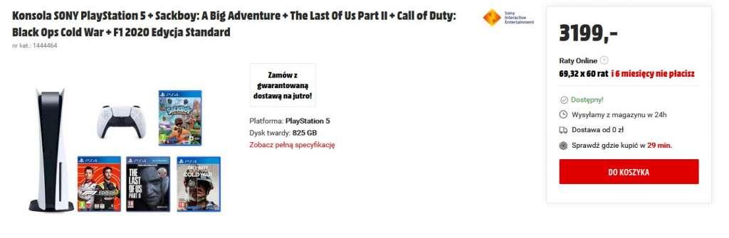 PS5 w media markt zestaw duży 2