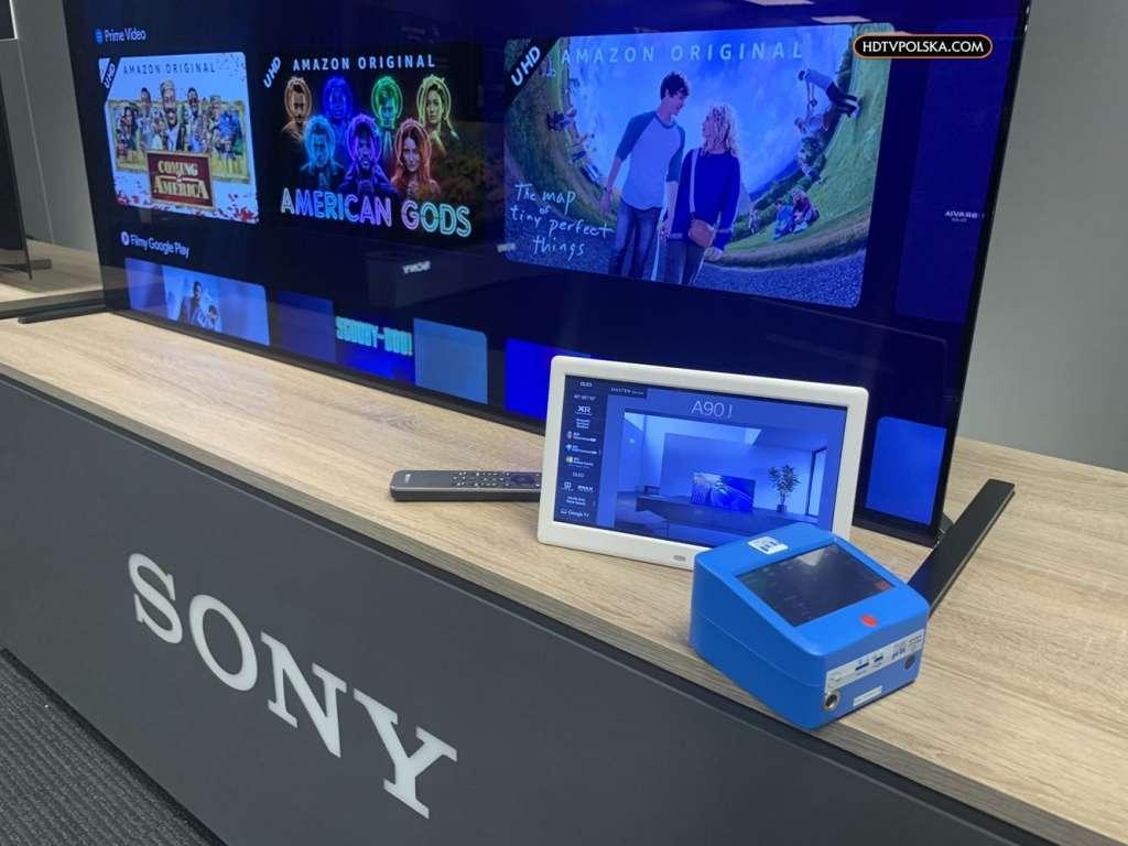 Test telewizorów Sony Bravia 2021 pomiary A90J