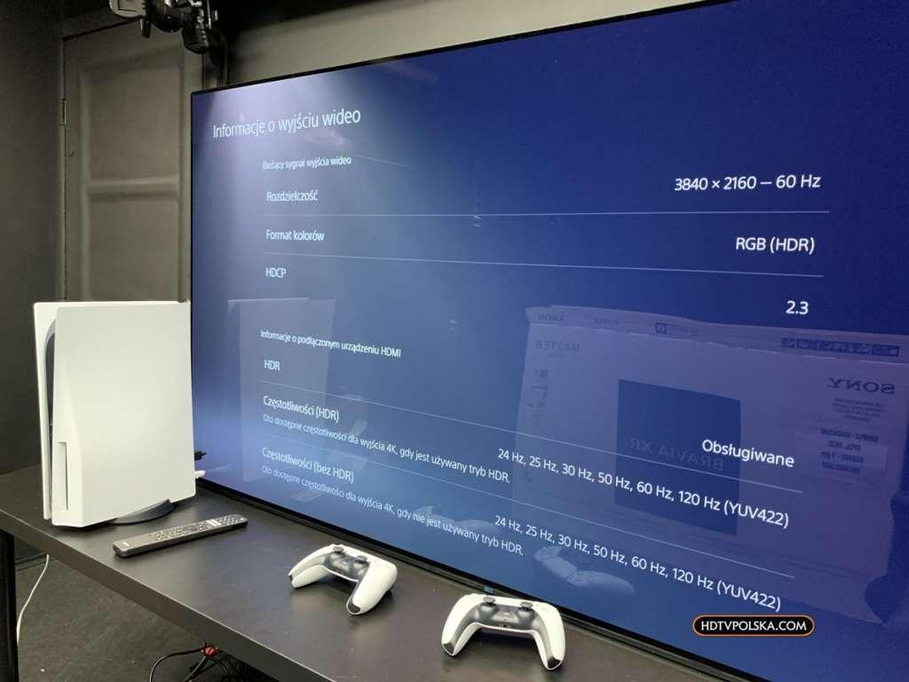 Zapowiedź otwieramy test Sony BRAVIA XR OLED A90J działanie z PS5