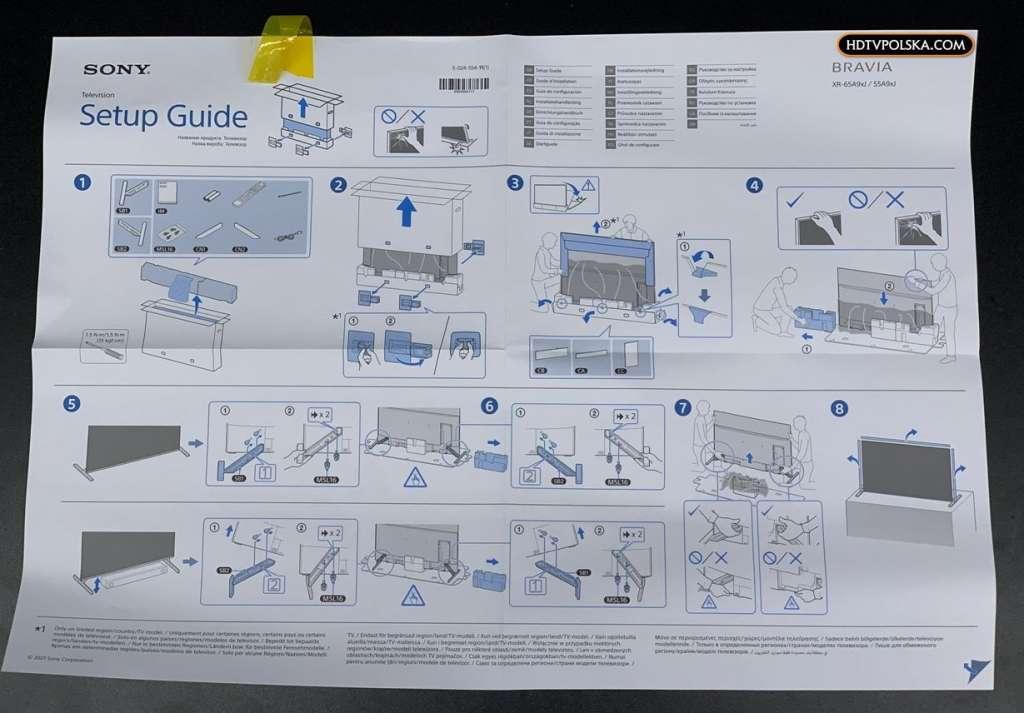 Zapowiedź otwieramy test Sony BRAVIA XR OLED A90J instrukcja