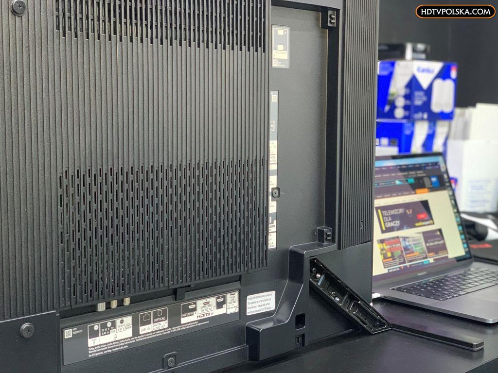 Zapowiedź otwieramy test Sony BRAVIA XR OLED A90J podstawa montaż