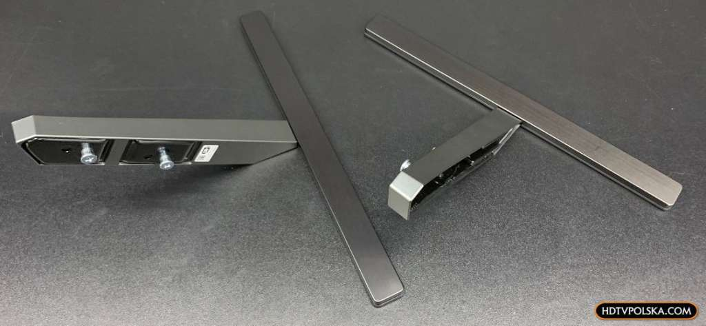 Zapowiedź otwieramy test Sony BRAVIA XR OLED A90J podstawa nóżki