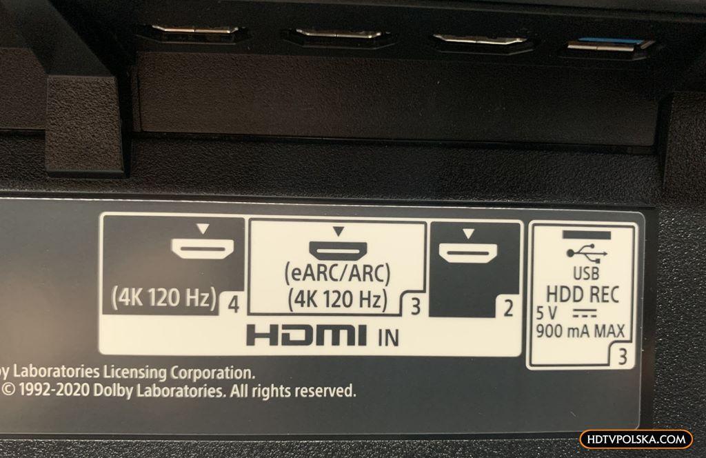 Zapowiedź otwieramy test Sony BRAVIA XR OLED A90J porty HDMI 2.1