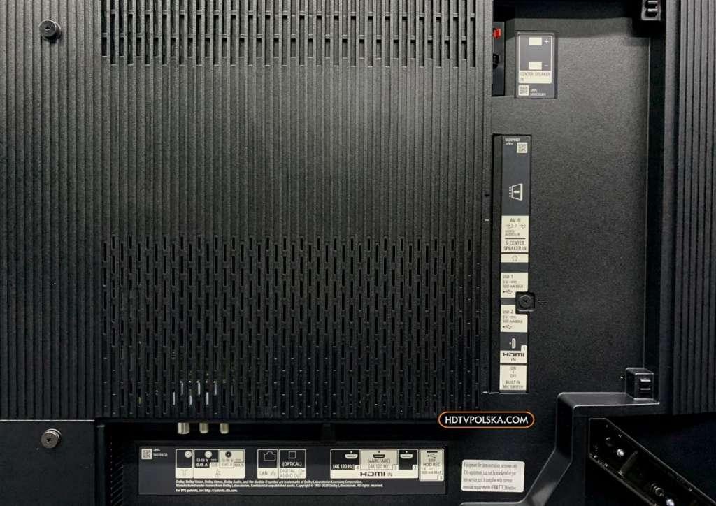 Zapowiedź otwieramy test Sony BRAVIA XR OLED A90J porty złącza