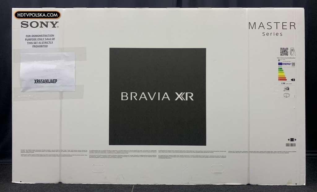 Zapowiedź otwieramy test Sony BRAVIA XR OLED A90J pudło 1