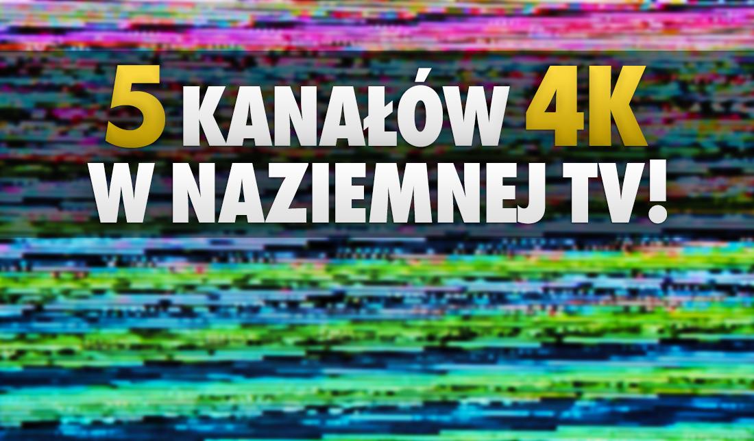 Aż pięć darmowych kanałów 4K w naziemnej telewizji cyfrowej w tym z HDR. Nowy MUX już gotowy m.in na F1 w 4K! Gdzie możliwy odbiór?