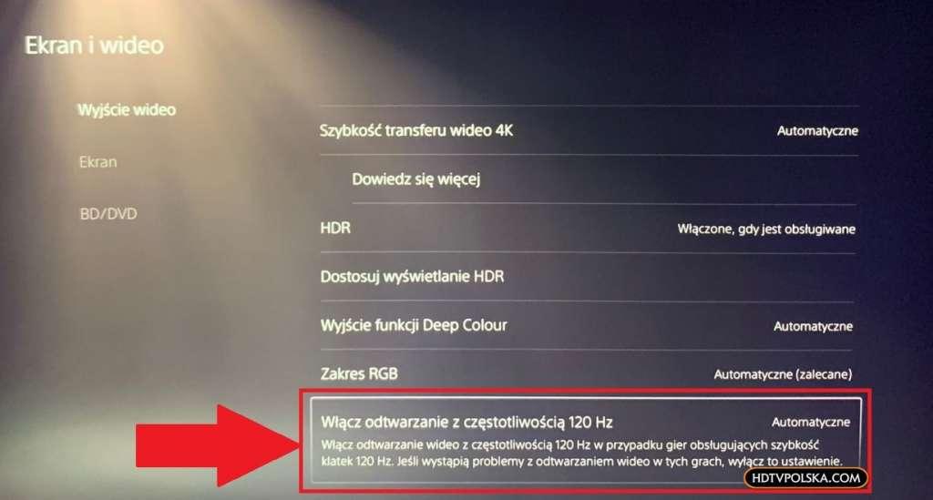 Aktualizacja oprogramowania PS5 120Hz HDR_1