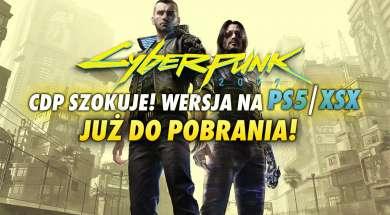 Cyberpunk 2077 wersja PS5 XSX okładka