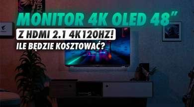 Gigabyte Aorus monitor 4K OLED 48 cali HDMI 2.1 okładka
