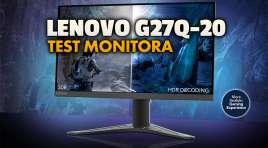 Doskonale działający monitor z PC oraz konsolami nowej generacji? Testujemy niedrogi 165Hz Lenovo G27q-20