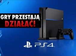 PS4 konsola gry nie działają błąd okładka
