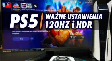 PS5 aktualizacja 120Hz HDR monitory ustawienia okładka