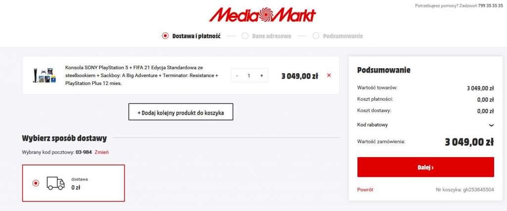 PS5 w media markt