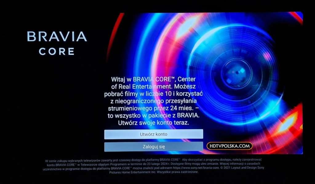 Pierwsze wrażenia test Sony BRAVIA XR OLED A90J Google TV BRAVIA CORE