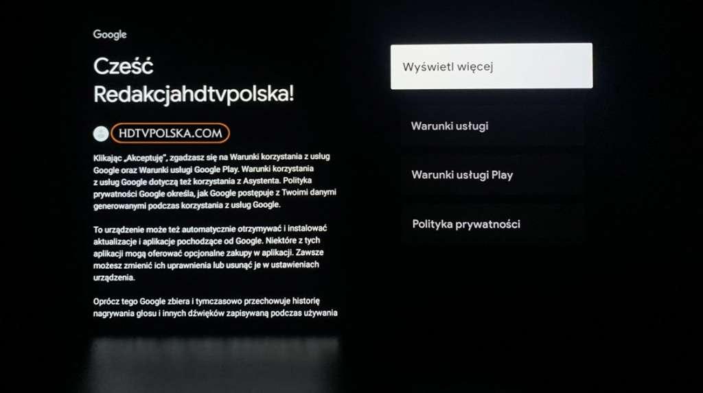 Pierwsze wrażenia test Sony BRAVIA XR OLED A90J konfiguracja google tv