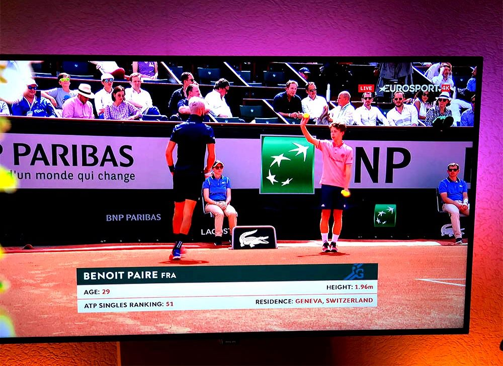 Roland Garros eurosport 4k zrzut