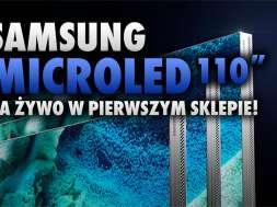 Samsung MicroLED telewizor 110 cali sklep okładka