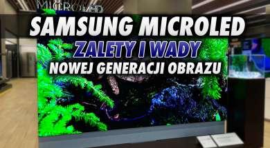 Samsung MicroLED telewizor na żywo wygląd okładka