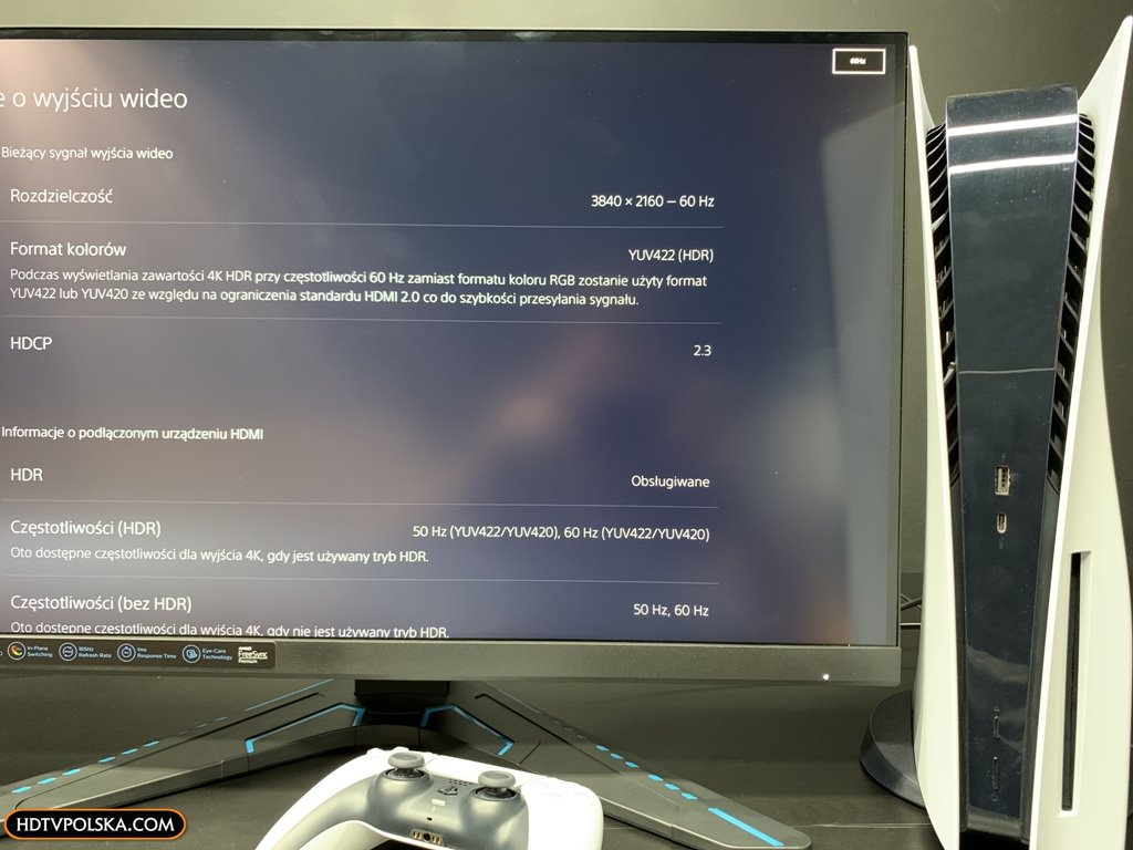 Test Monitor Lenovo G27q-20 PS5 menu