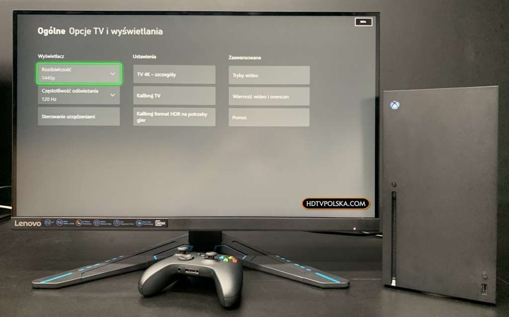 Test Monitor Lenovo G27q-20 Xbox Series X 1440p 120hz
