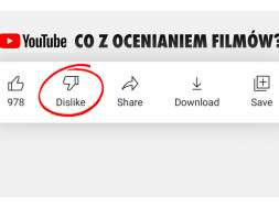 YouTube łapki w dół ocena filmów okładka