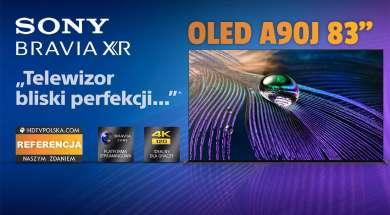 Sony OLED A90J 83 cale telewizor 2021 przedsprzedaż okładka 2