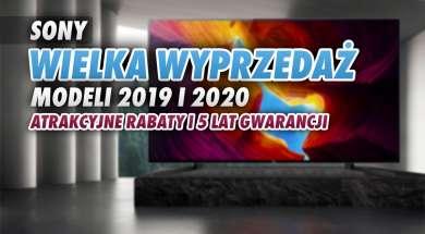 sony wyprzedaż telewizorów LCD OLED 2019 2020 okładka