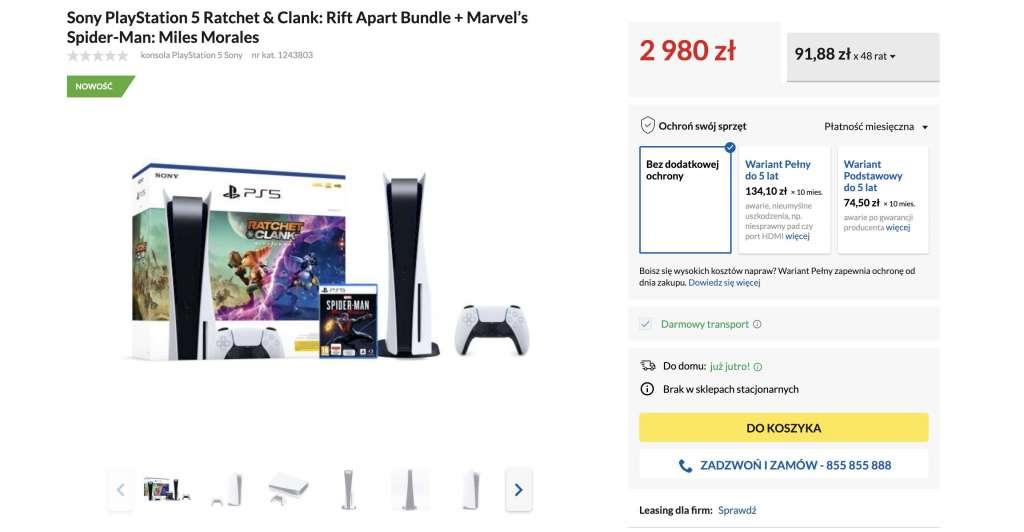 PlayStation 5 już dostępne w Polsce w oficjalnym zestawie z pierwszą grą! Sprawdzamy dostępność i ceny w sklepach