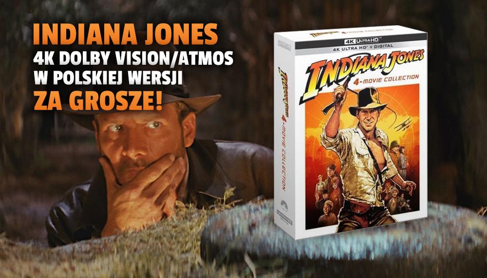 """Najnowsza wielka kolekcja """"Indiana Jones"""" za grosze! 4K, Dolby Vision, polski lektor i napisy! Gdzie oglądać za ułamek wartości?"""