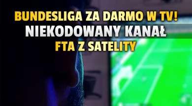 kanał SAT1 Bundesliga mecze za darmo FTA satelita okładka