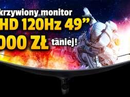 Samsung CRG9 zakrzywiony monitor QHD promocja media expert okładka