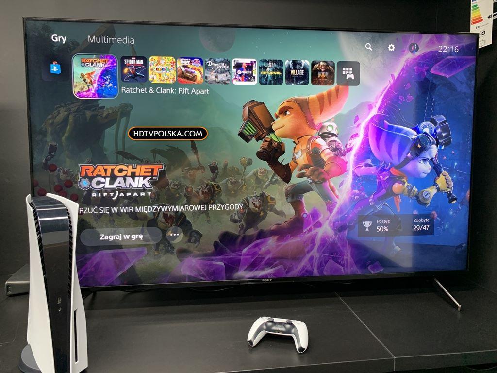 Sony X90J BRAVIA XR test granie input lag playstation 5