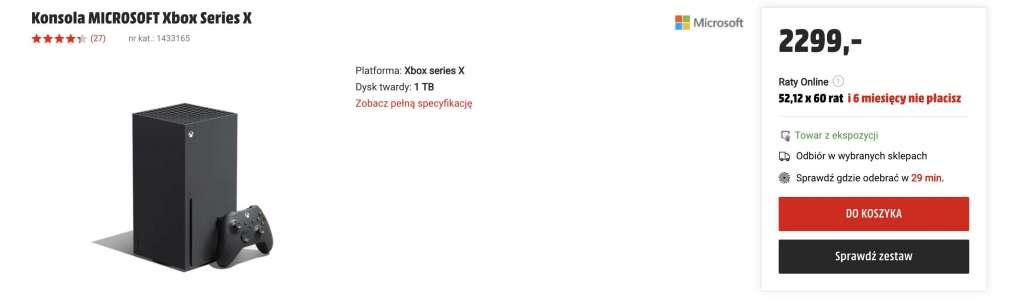 To świetny moment na zgarnięcie konsoli Xbox Series X! Super ceny w polskich sklepach, ale zapasy szybko maleją - gdzie kupić?