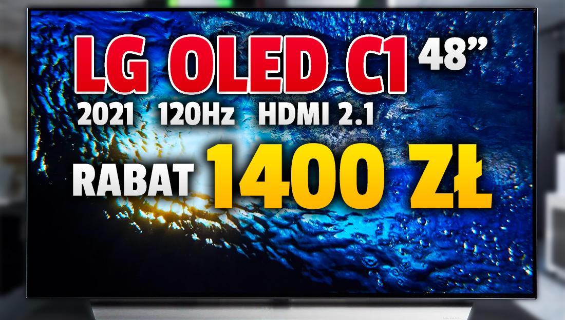 Rekordowo tani TV OLED 48 cali do grania! Najnowszy model LG C1 z portami HDMI 2.1 4K 120Hz VRR obiektem znakomitej promocji – 1400 zł taniej! Gdzie kupić?