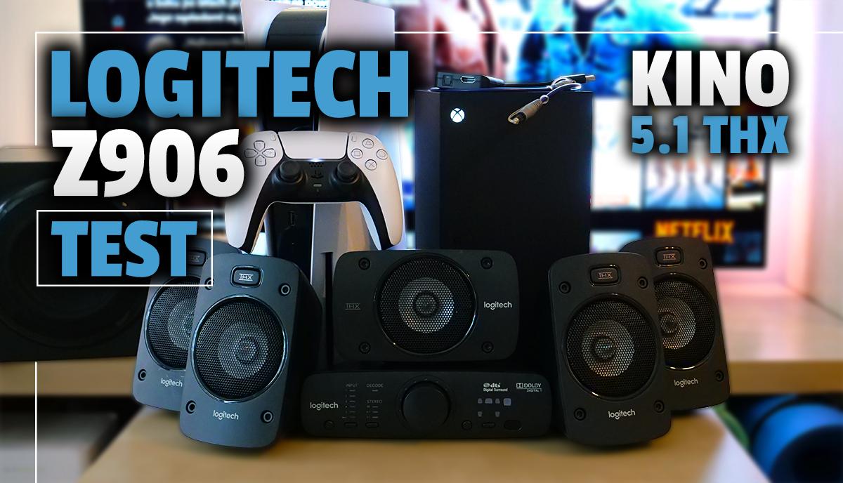 Niedrogi sposób na ogromną poprawę jakości dźwięku w filmach oraz grach PS5 i XSX. Testujemy głośniki 5.1 Logitech Z906 z wielką mocą i certyfikatem THX!