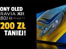 sony bravia xr oled a80j telewizor promocja rtv euro agd lipiec 2021 okładka