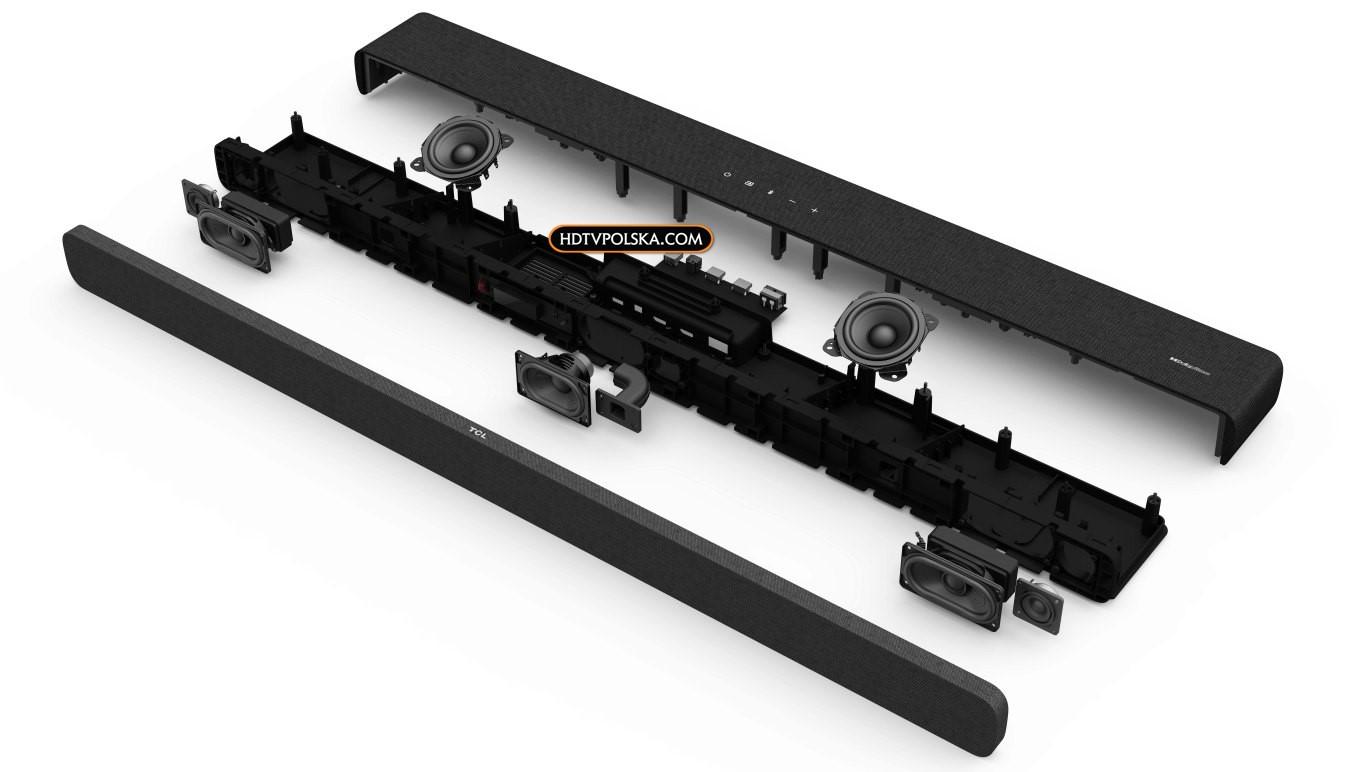 Test soundbar TCL Alto 8e TS8132 budowa przekrój