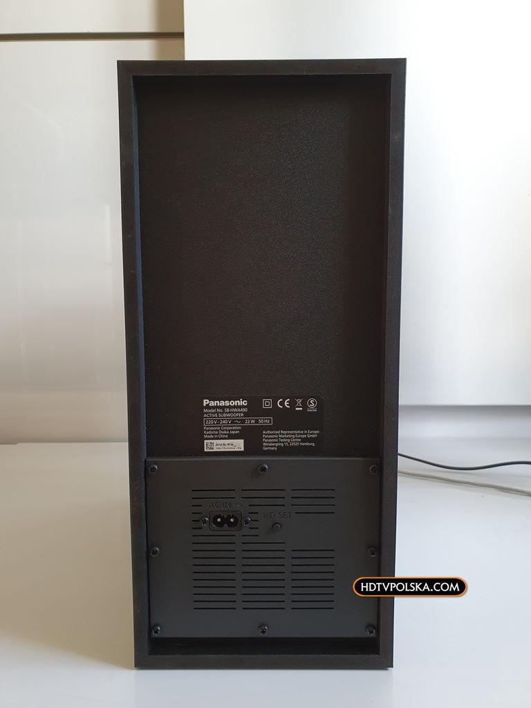 Panasonic SC-HTB490 test recenzja soundbar subwoofer 4