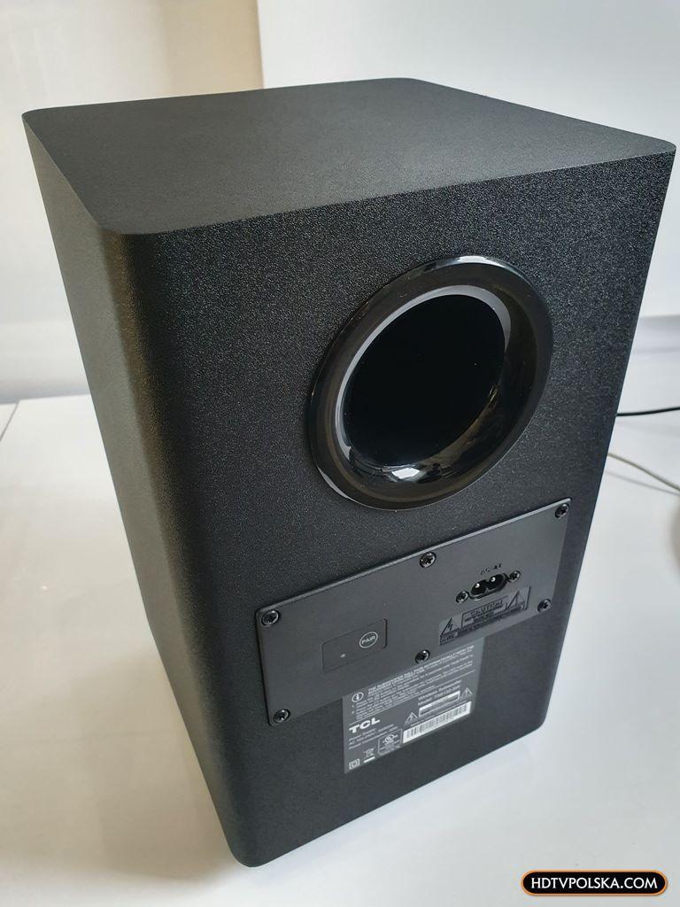 Test soundbar TCL Alto 8e TS8132 Subwoofer 3