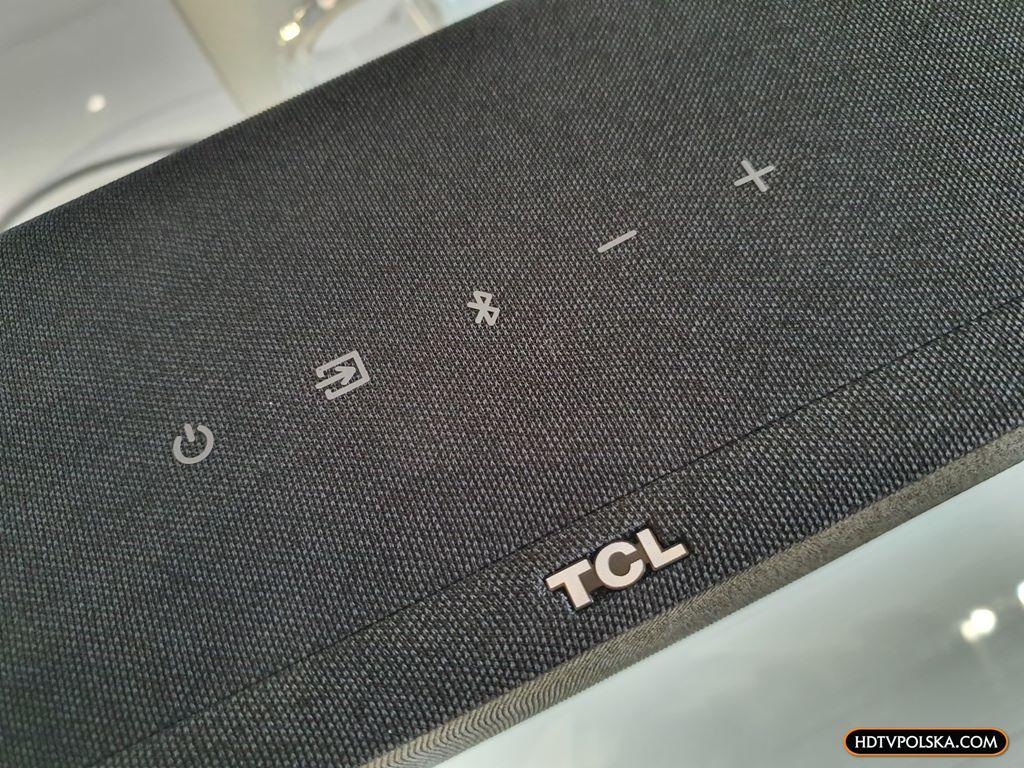 Test soundbar TCL Alto 8e TS8132 klawisze obudowa